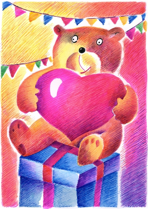 Teddy Bear Has His Thoughts on Love