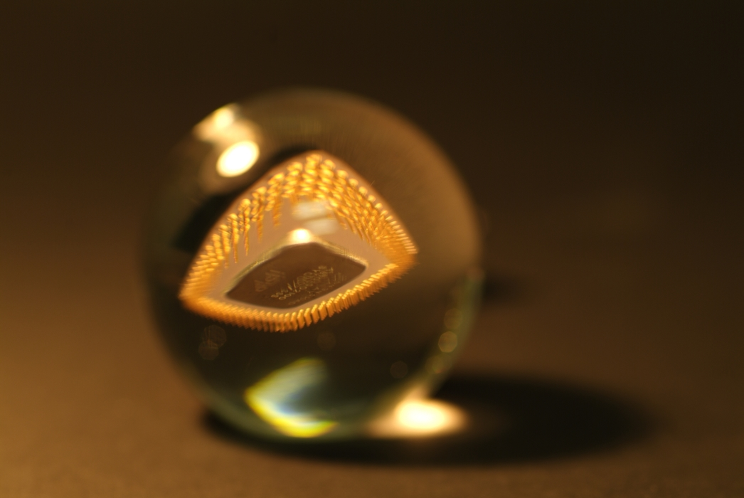 Crystal Ball with Computer Chip Inside