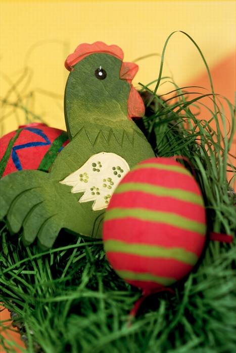 Easter Chick with Painted Egg