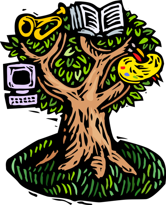 Vector Illustration of Tree of Life, Creativity and Cultural Knowledge