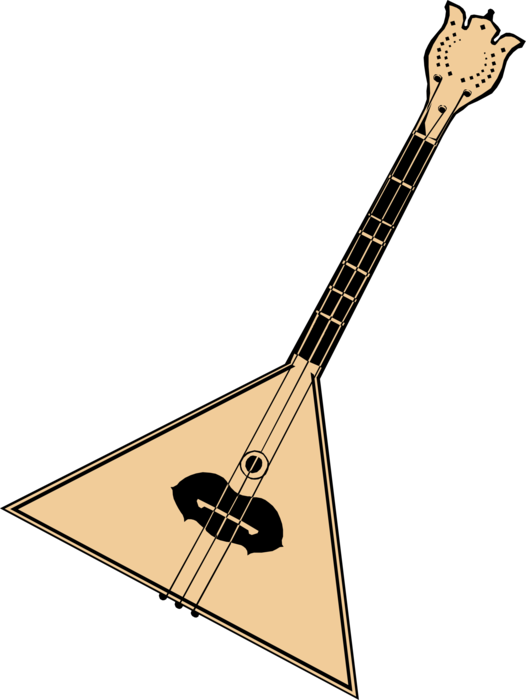 Vector Illustration of Balalaika Russian Stringed Musical Instrument