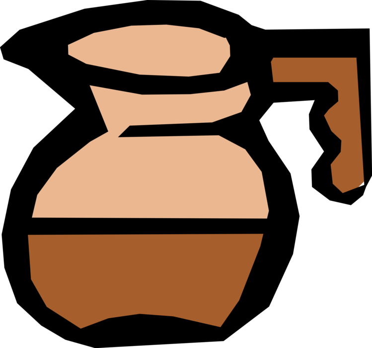 Vector Illustration of Coffeepot with Freshly Brewed Coffee