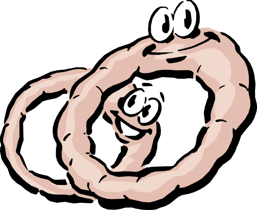 Vector Illustration of Anthropomorphic Onion Rings