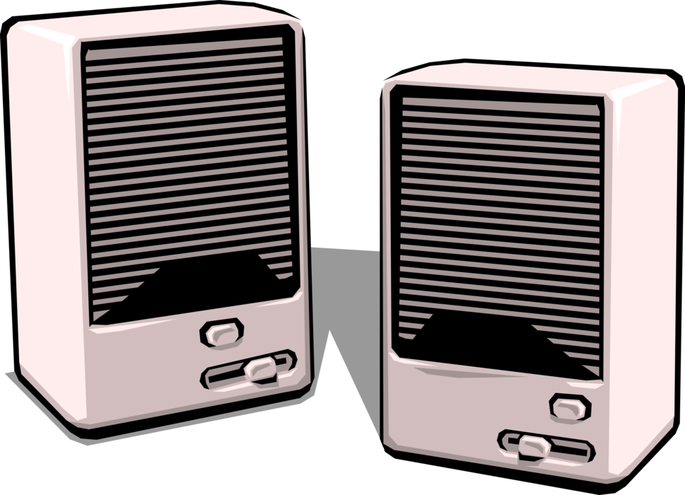 Vector Illustration of Computer Audio Entertainment Multimedia Loudspeaker Speaker