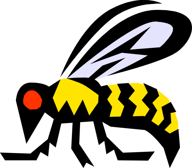 Vector Illustration of Ancient Egyptian Bumblebee or Honeybee Symbol