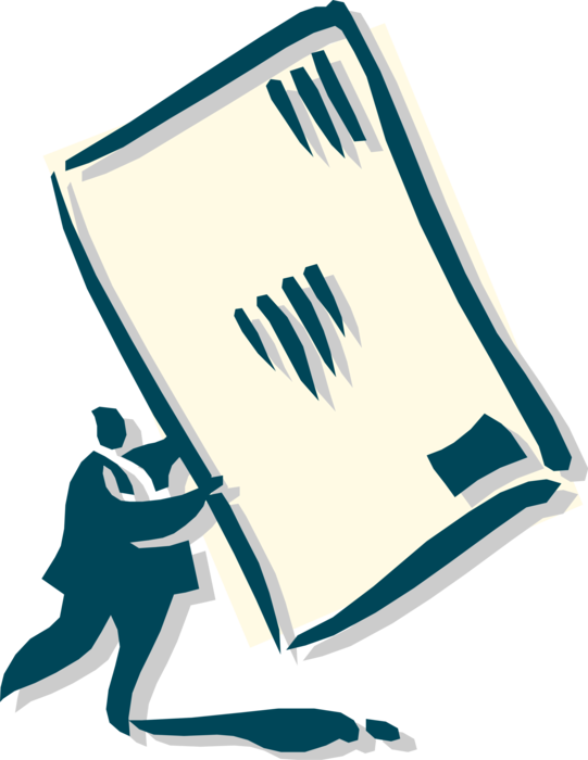 Vector Illustration of Man Holding Letter Mail Envelope