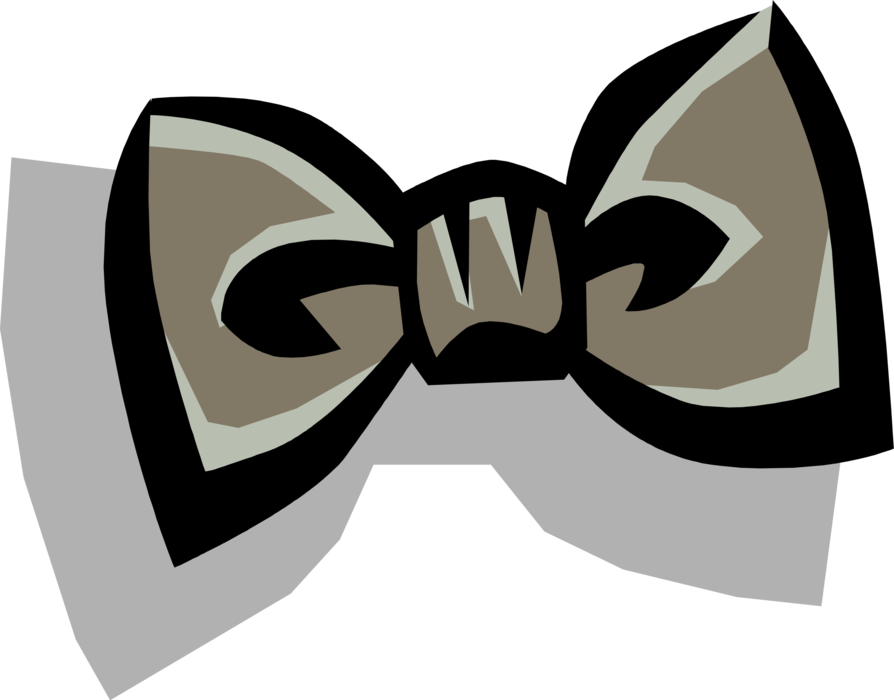 Vector Illustration of Bow Tie Necktie Clothing Apparel Accessory