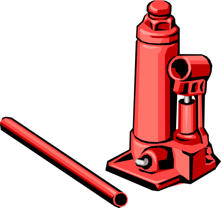 Vector Illustration of Auto Mechanic Car Jack