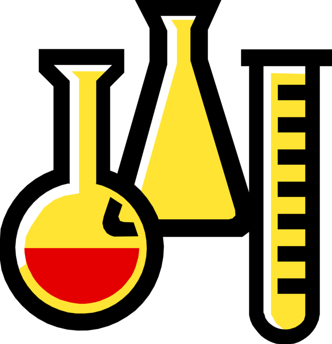 Vector Illustration of Test Tube or Culture Tube Laboratory Glassware