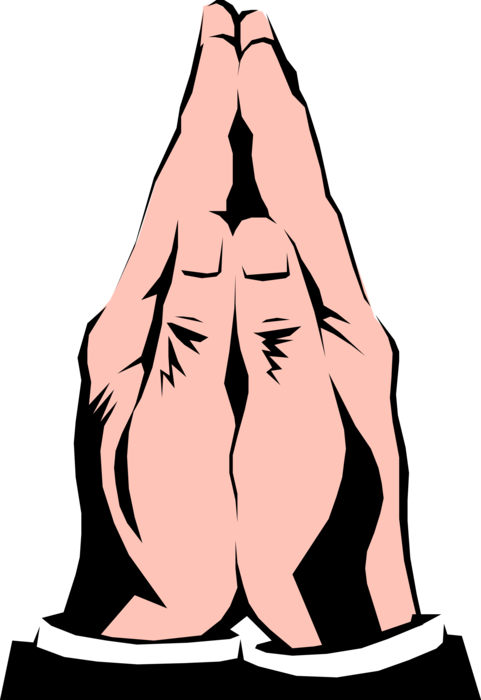 Vector Illustration of Religious Praying Hands