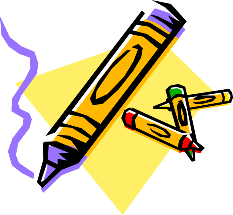 Vector Illustration of Crayola Children's Coloring Crayons