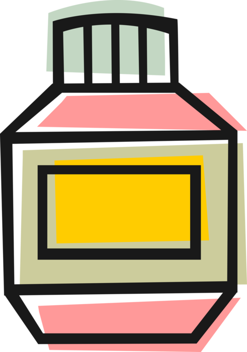 Vector Illustration of Bottle of Prescription Medicine Drugs Medication