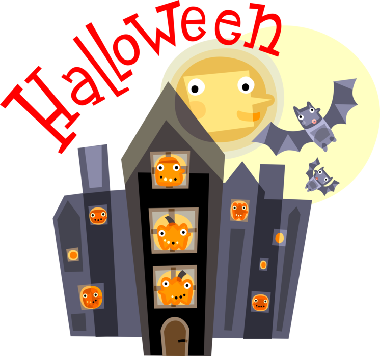 Vector Illustration of Halloween Scene