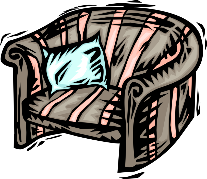 Vector Illustration of Home Furnishings Chair Furniture
