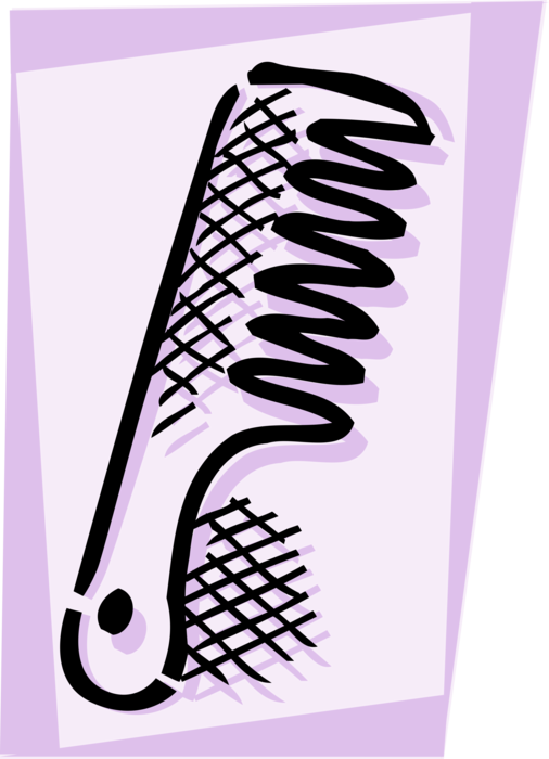Vector Illustration of Personal Grooming Hair Comb