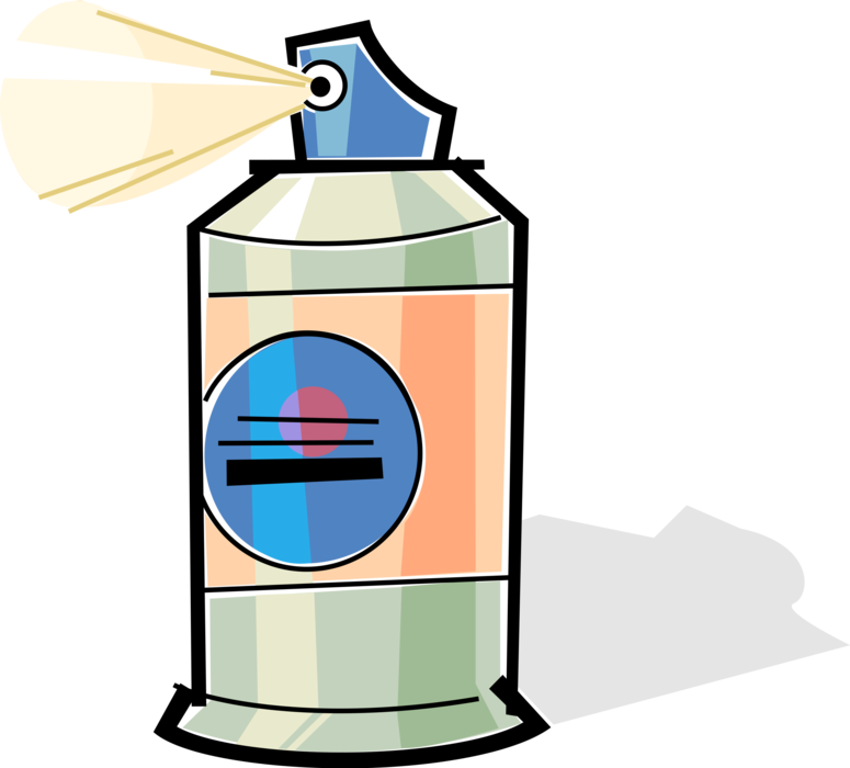 Vector Illustration of Aerosol Hair Spray Dispenser with Propellant Under Pressure