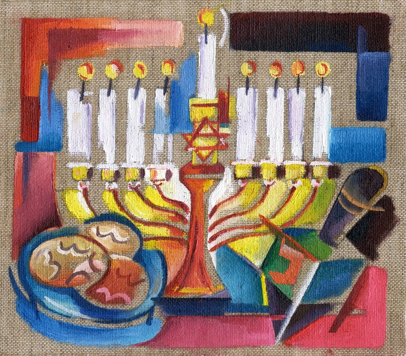 Menorah Celebrates Jewish Traditions