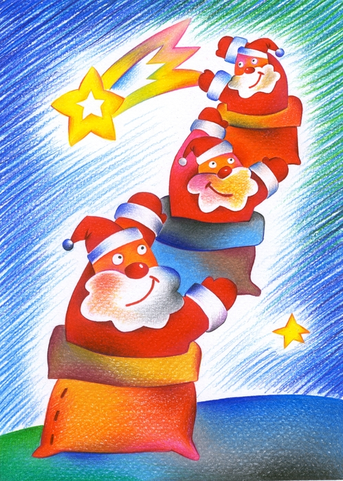 Santa Claus Reaches for the Stars
