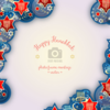 Wannapik vector happy hanukkah photo frame 01