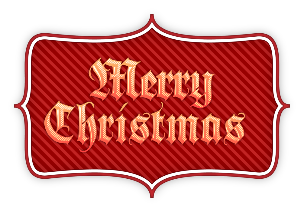 Merry Christmas Label banner