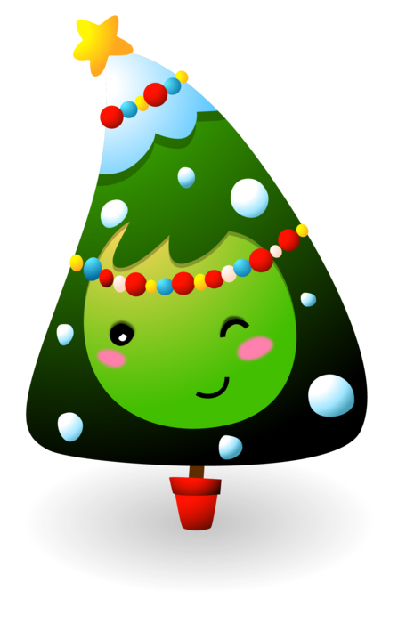 Cute Christmas Tree winking