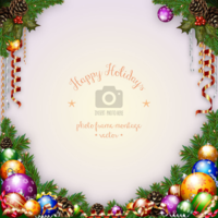 6re7kig420 wannapik vector happy holidays photo frame christmas 01