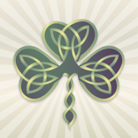 157o40avlk st patricks day charms 2 tree leaf knot