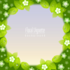 Wannapik vector spring flower vignette background 01