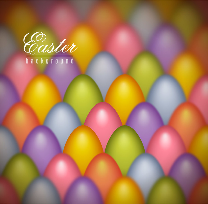 Pastel Colored Easter Eggs Vector Background Illustration