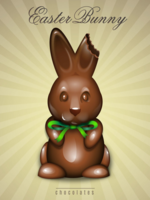 68vjhlnntj bitten ear chocolate easter bunny