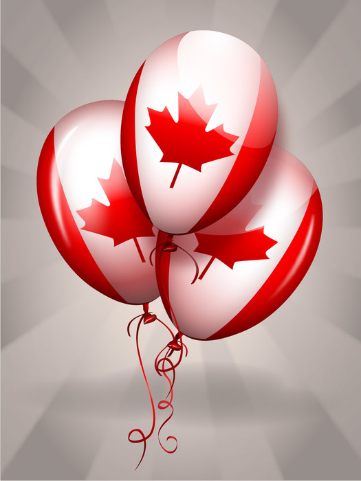 Happy Canada Day Balloons Overlay