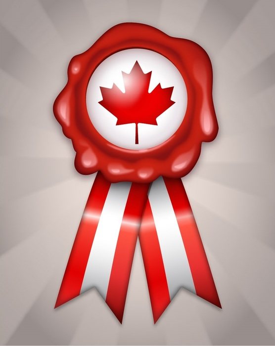 Happy Canada Day Wax Stamp and Ribbon