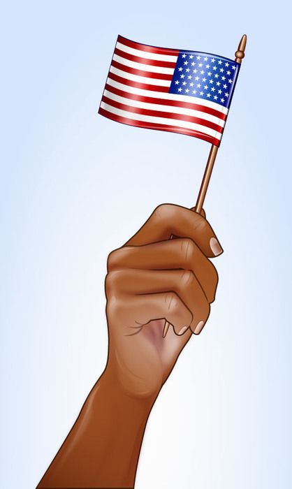 Happy 4th of July American Independence Day Celebration Hand Overlay