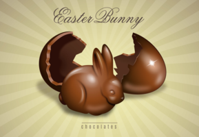 7e5l0j2bei hatched chocolate easter bunny x 3