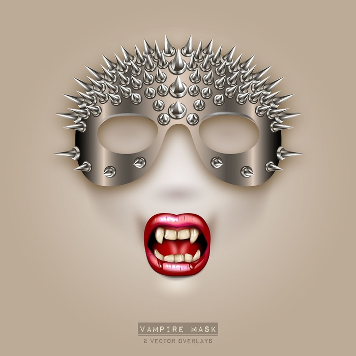 Vampire Mask and Teeth Overlays
