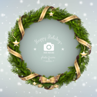 Jhv36883l christmas wreath photo frame