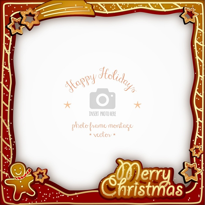 Merry Christmas Gingerbread Photo Frame
