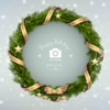 Christmas wreath photo frame